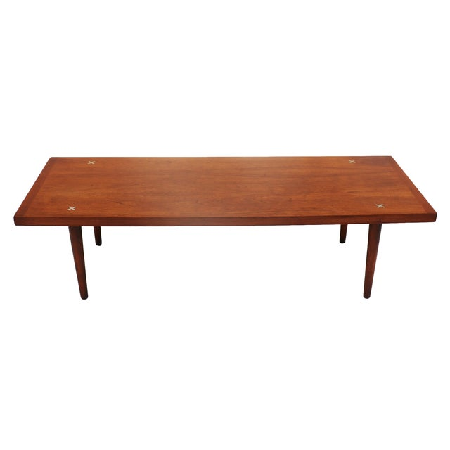 American of Martinsville Walnut Coffee Table - Image 1 of 6