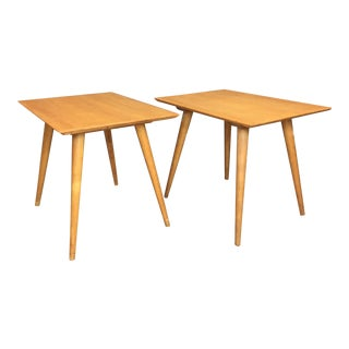 Paul McCobb Maple Side Tables - A Pair
