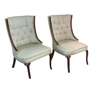 Mid-Century French Style Neoclassical Chairs - A Pair