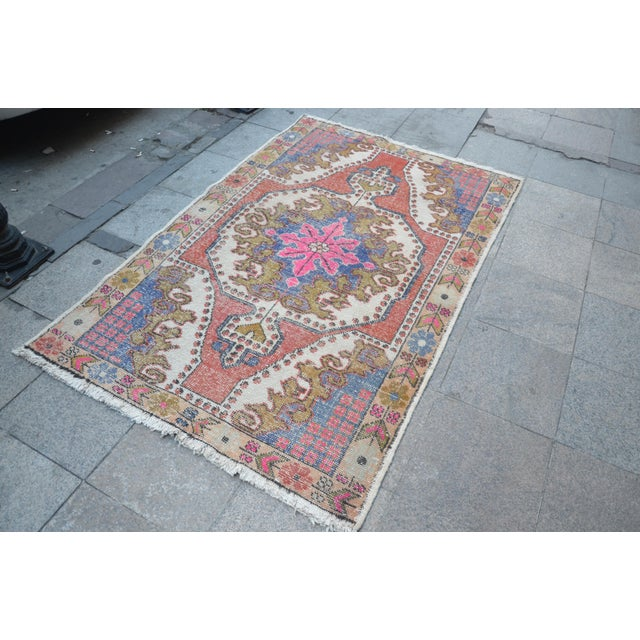Oushak Anatolian Carpet - 4′5″ × 6′10″ - Image 3 of 6