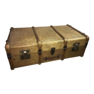 Large Old English Vellum Trunk