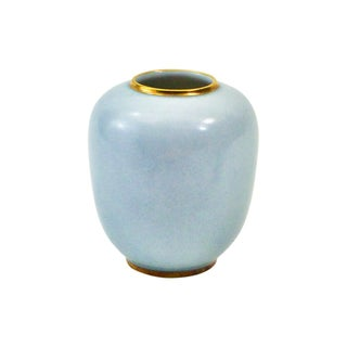 Tirschenreuth Decorative Blue Porcelain Bud Vase