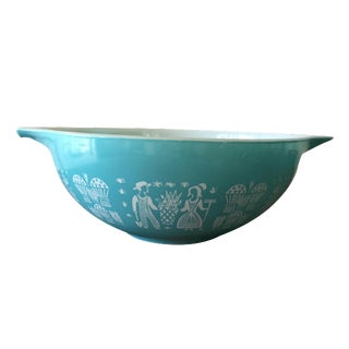 Pyrex Turquoise Butterprint Mixing Bowl