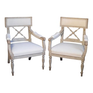 Pair of Swedish Empire Armchairs (#31-05)