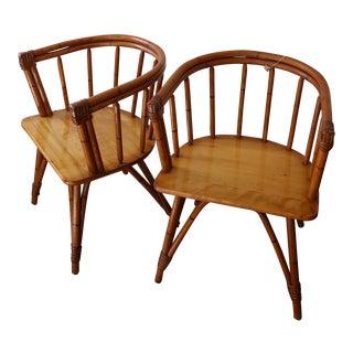 "Heywood-Wakefield ""Ashcraft"" Armchairs - A Pair"