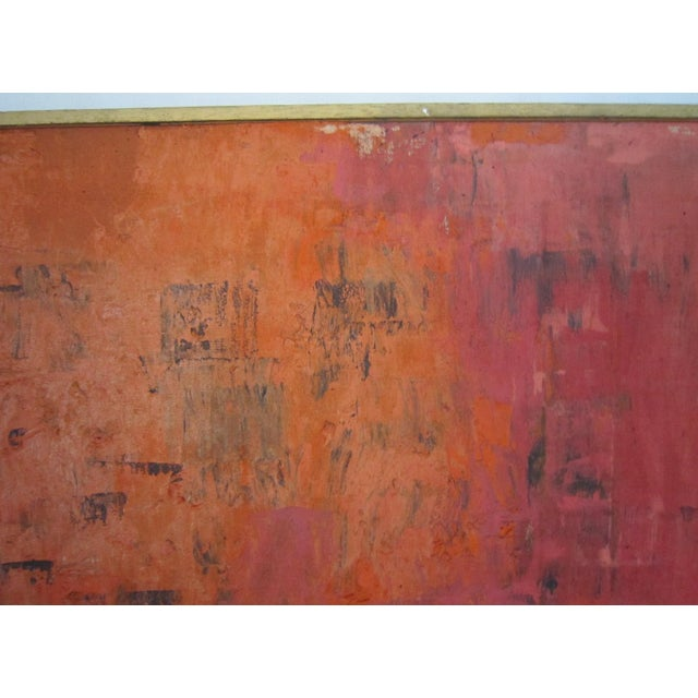 Mid-Century Signed Abstract Painting - Image 4 of 6