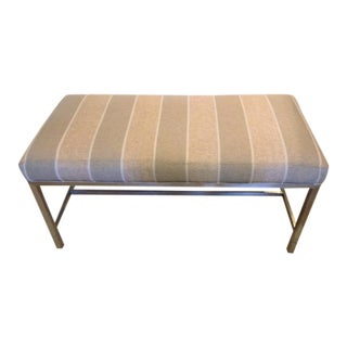 Upholstered Stainless Steel Bench