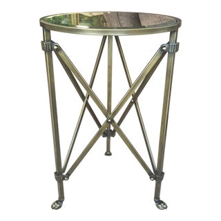 Mirrored Metal Accent Side Table