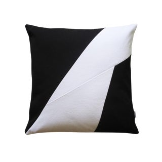 Modern Design Black & White Recycled Cotton Pillow Case