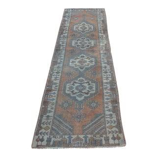Tribal Wool Turkish Runner Rug - 2′5″ × 10′1″