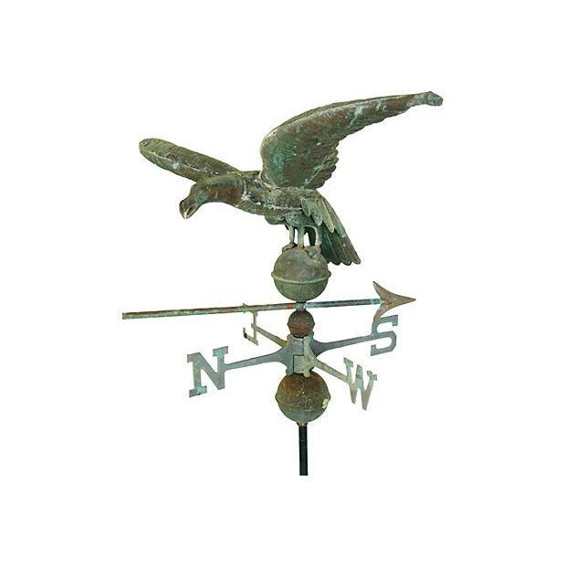 Vintage Copper Eagle Weathervane with Stand - Image 6 of 7