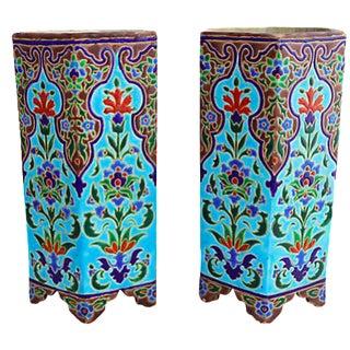 Jules Vieillard French Deco Vases- A Pair