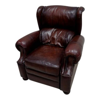 Saddle Leather Wing-Back Club Chair
