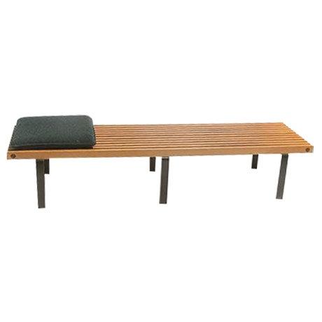 Wood Slat Bench, George Nelson Style - Image 1 of 3