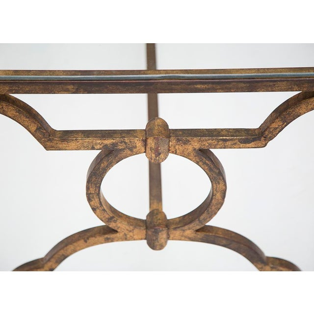 French Gilt Coffee Table: French Mid-Century Gilt Iron Coffee Table
