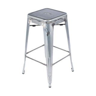 Industrial Distressed Metal Bar Stool