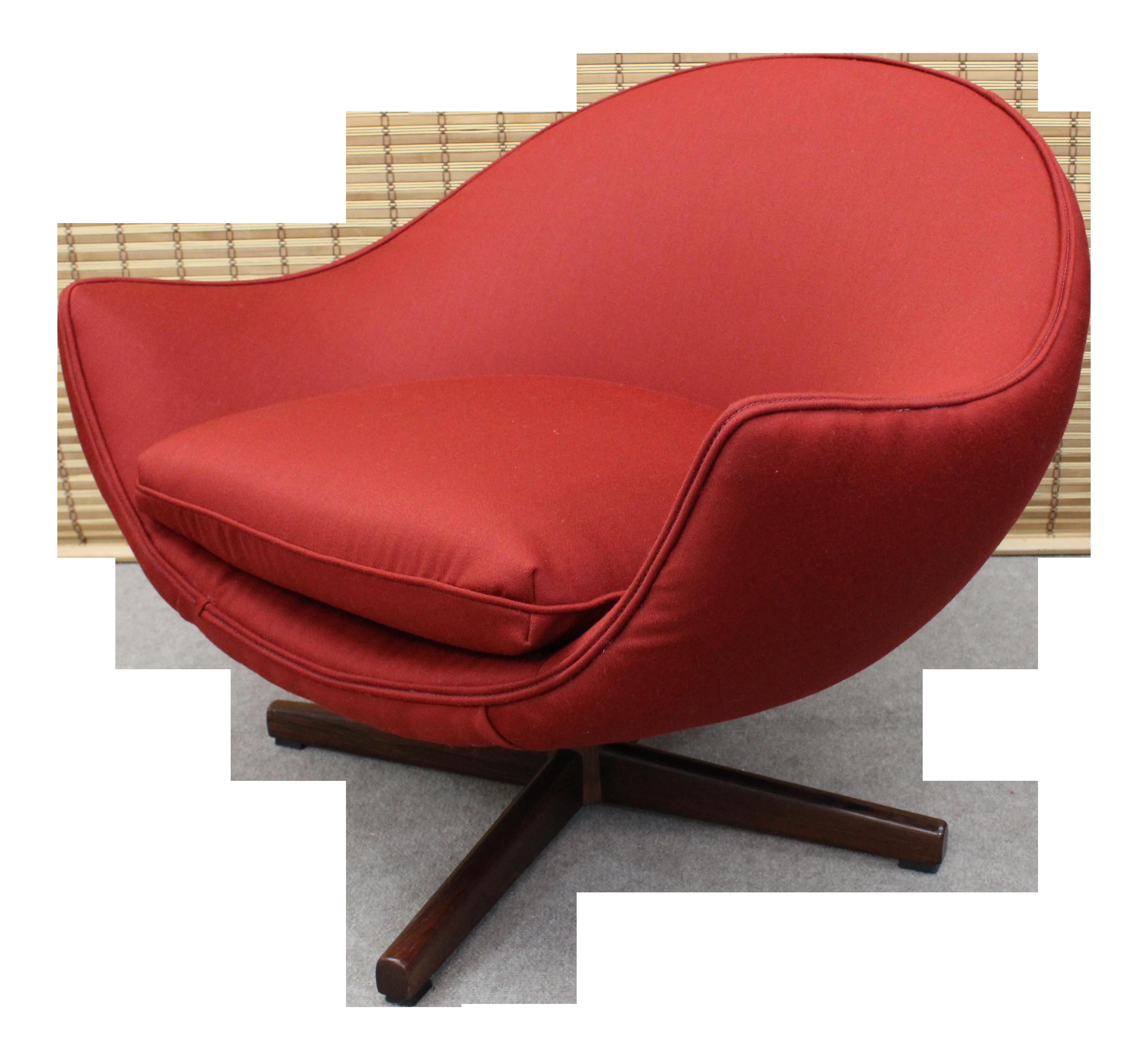 Mobler Vintage Mid Century Modern Scoop Chair