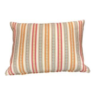 Striped Colorful Lumbar Pillow