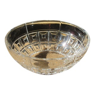 "Rosenthal German ""Domas"" Lead Crystal Center Bowl"