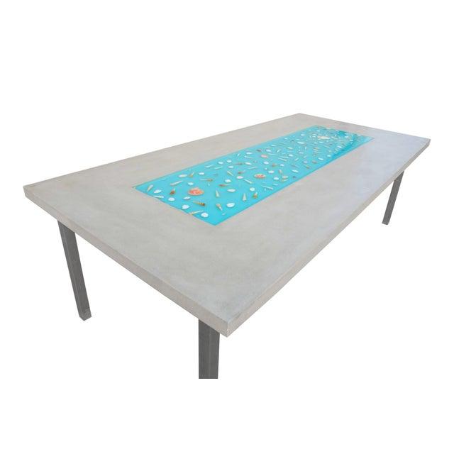 Organic Seashells Modern Dining Table - Image 6 of 7