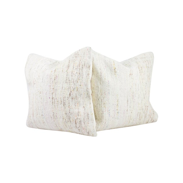 Plush Neutral Matching Pillows - A Pair - Image 1 of 3
