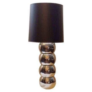 Stacked Chrome Ball Lamp