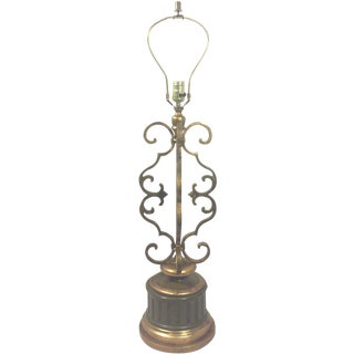 Gold Leaf Iron Table Lamp