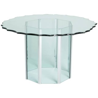 1970s Custom Glass and Chrome Table by Pace