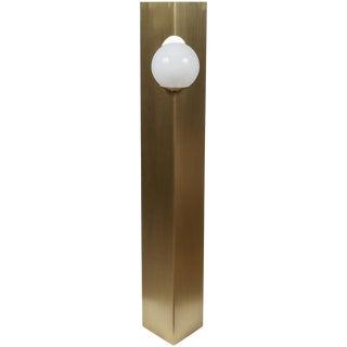 Paul Marra Brass Solitaire Floor Lamp
