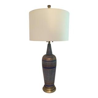 Vintage Blue Mid-Century Lamp