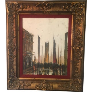 Lee Reynolds Cityscape Original Signed Painting