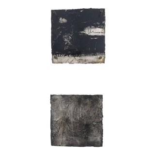 Abstract Metallic Paintings - A Pair