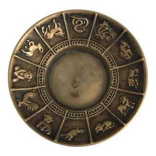 Vintage Brass Zodiac Dish