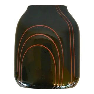 Vintage Black Ceramic Vase