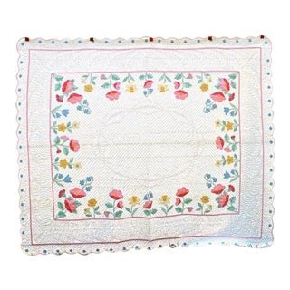 American Applique Bed Quilt