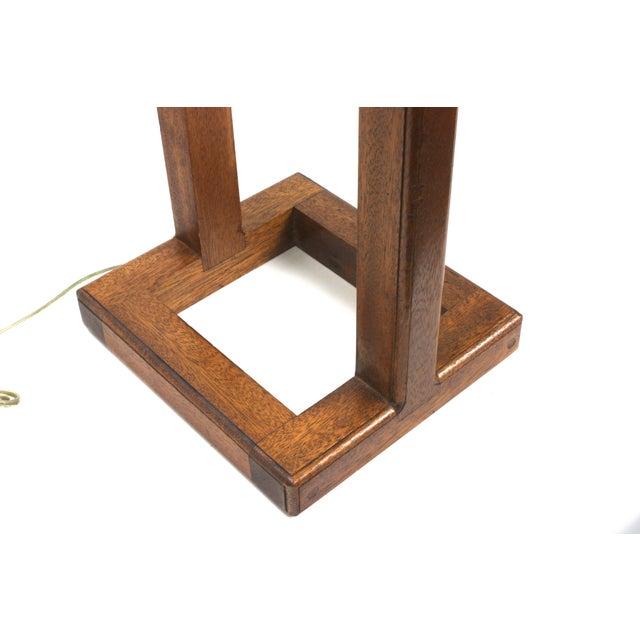 Mid-Century Large Scale Walnut & Acrylic Lamp - Image 4 of 7