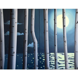 Moon, Birch, Water