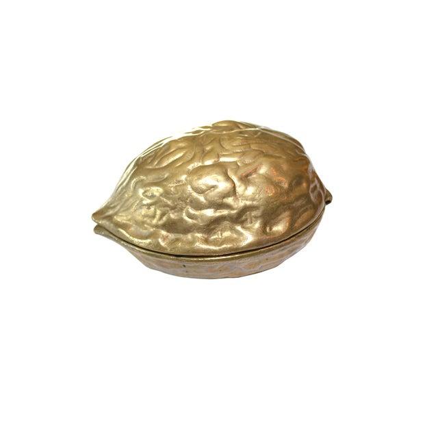 Image of Vintage Brass Walnut Nutcracker