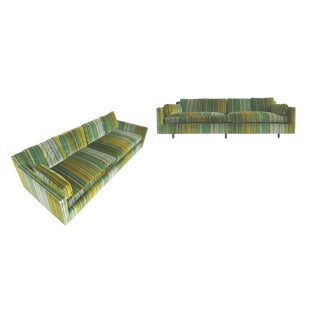 1960s Harvey Probber Striped Velvet Sofas - A Pair
