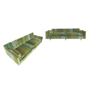 1960s Harvey Probber Striped Velvet Sofas - A Pair