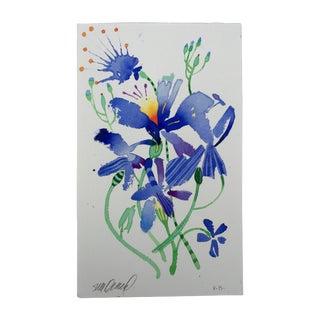 """Firefly Lilies 2"" Original Watercolor"