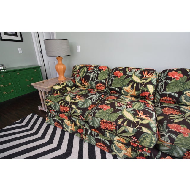 Drexel Heritage Tropical Print Sectional Sofa Chairish