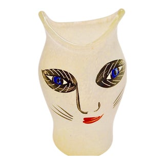 Ulrica Hydman Vallien for Kosta Boda Glass Cat Vase