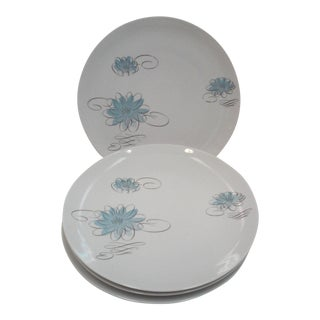 Raymond Loewy Porcelian Dinner Plates-Set of 4