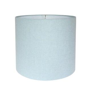 Pindler Linen Robin's Egg Blue Custom Drum Lamp Shade