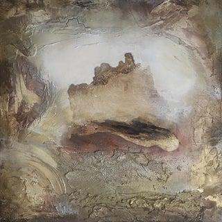 """Portal (#10 in Series) "" Original Abstrast Modern Neutral Art Metallic Landscape Painting"