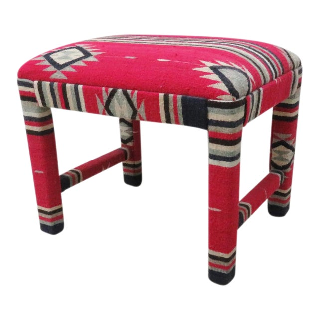 Mid-Century Aztec Parsons Style Stool - Image 1 of 4