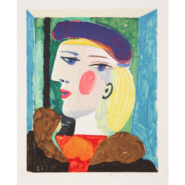 Pablo Picasso Lithograph - Femme Profile - Image 2 of 2