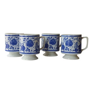 Chinoiserie Porcelain Mugs - Set of 4