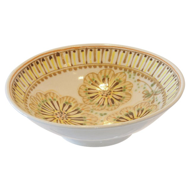 Mid-Century Janet Rothman Floral Bowl - Image 1 of 11